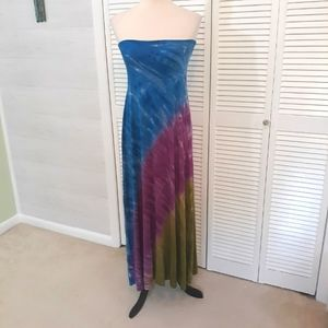 Lucky brand tie dye swim coverup dress M/L *L
